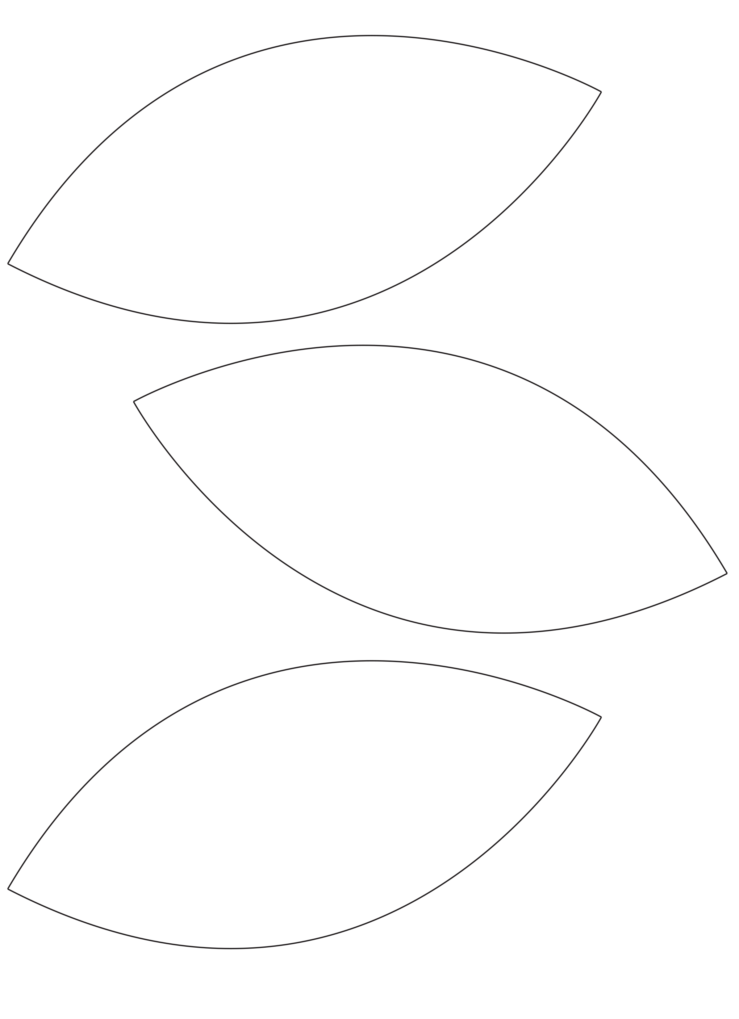 Leaf Garland Template