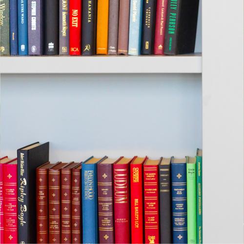 boeken op kleur