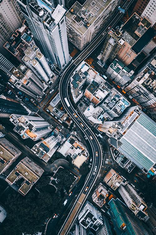 stad van boven