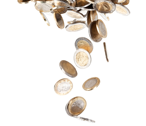 Vallende muntjes