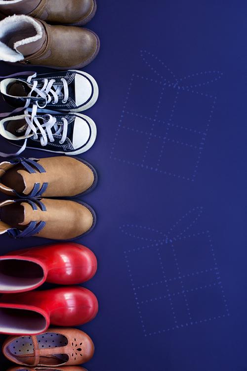 schoentjes op een rij