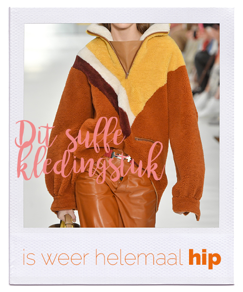 fleece trui op de catwalk