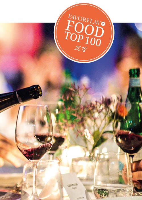 Wijn glazen tijdens de food top 100 van Favorvlav