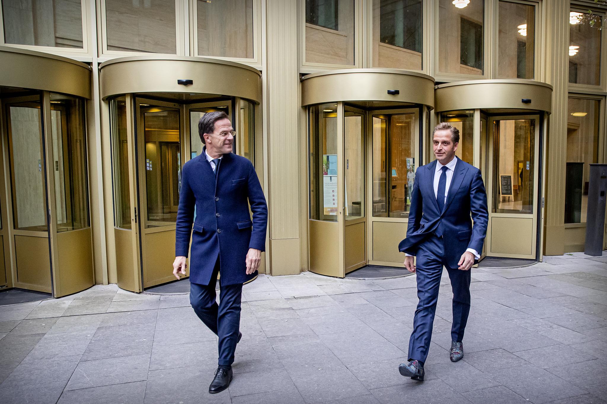 Mark Rutte en Hugo de jonge