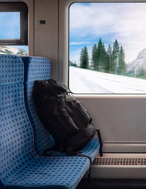 tas in de trein