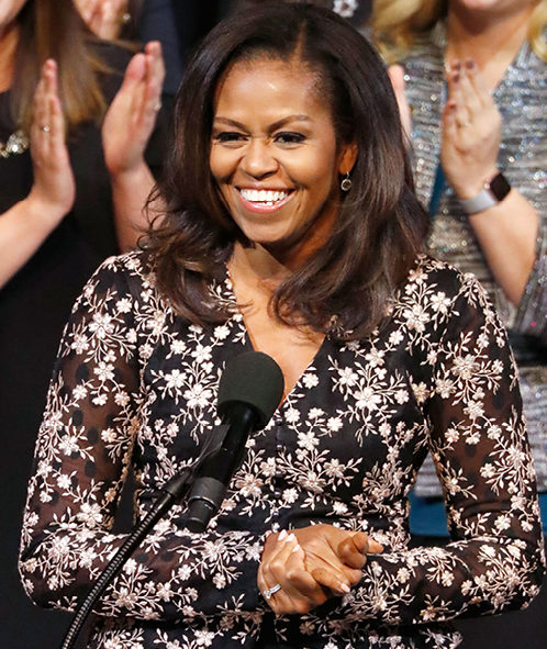 Michelle Obama geeft een speech