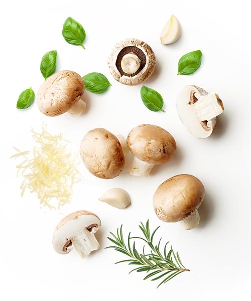 Ingredienten om Funghi cremosi te maken