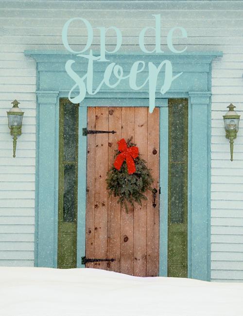 voordeur met kerst