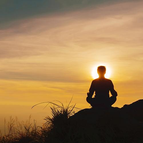 yoga sunset silhouet